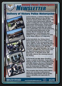 Victory Police Motorcycles Newsletter